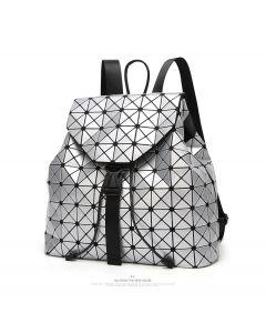 Rucsac dama Geometric Travel Argintiu