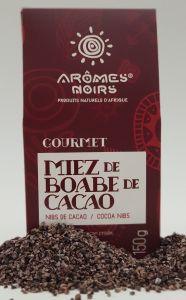 Miez de boabe de cacao Aromes Noirs Gourmet(Nibs) 150 gr