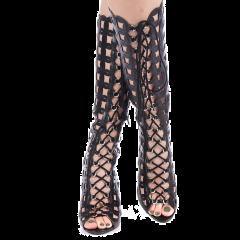 Sandale dama Siram negre, 36