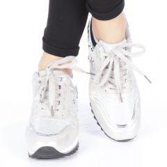 Pantofi sport dama Andree argintii, 36