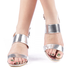 Sandale dama Caney argintii, 38