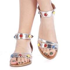 Sandale dama Darina argintii, 41