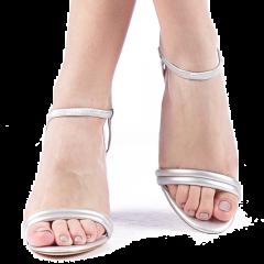 Sandale dama Branca argintii, 40