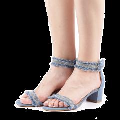 Sandale dama Lalla albastru deschis, 41