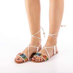 Sandale dama Imala albe, 40