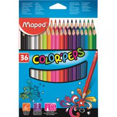 Creioane colorate Color'Peps Maped, set 36 bucati