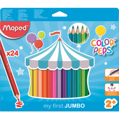 Creioane colorate Maped Color'Peps My First Jumbo, set 24 bucati