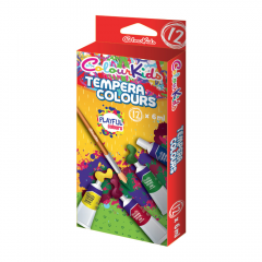Tempera 12 culori x 6 ml, ColourKids