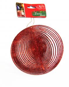 Ornament spiralat 13 cm, rosu