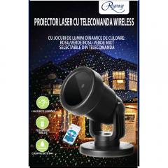 Proiector Laser cu 12 jocuri de lumini, verde/ros
