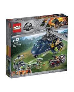 LEGO Jurasic World - Urmarire cu elicopter 75928