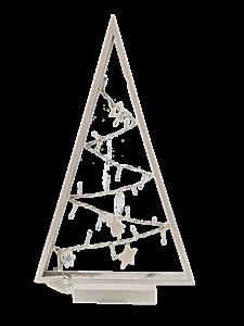 Figurina 20 leduri triunghi, alb cald
