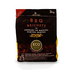 Brichete ecologice pentru gratar, din samburi de masline, 3 Kg