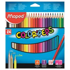 Creioane colorate Color'Peps Maped, set 24 bucati