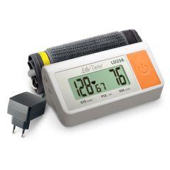 Tensiometru electronic de brat Little Doctor LD 23 A, alimentator inclus, Afisaj LCD, Algoritm Fuzzy, Un singur buton de operare, Validat BHS, Alb