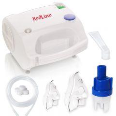 Aparat aerosoli RedLine NB-230C, nebulizator cu compresor, masca pediatrica si de adulti, Alb