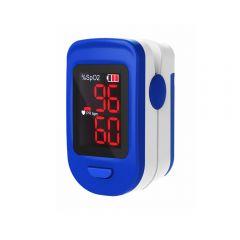 Pulsoximetru, RedLine FS10C, Albastru/Alb, Indica nivelul de saturatie a oxigenului din sange, Masoara rata pulsului
