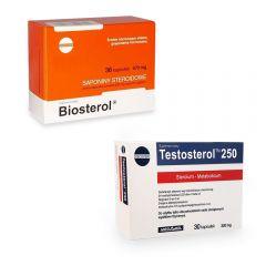 Pachet Megabol Biosterol 1 buc plus Testosterol 1 buc, stimulare testosteron si hormon de crestere, inhibare estrogen