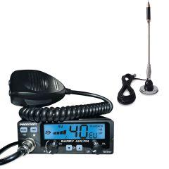 Pachet statie radio CB President Barry ASC + antena CB Bytrex MiniPlus
