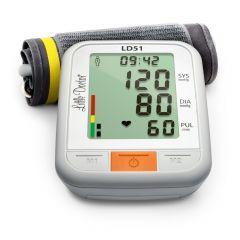 Tensiometru electronic de brat Little Doctor LD 51, afisaj XXL, detector aritmie, indicator WHO, afisare data si timp, Alb/Gri