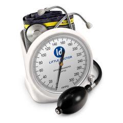 Tensiometru mecanic Little Doctor LD 100, stetoscop inclus, Suport de birou, Spatiu de depozitare manseta, Diametru manometru 11 cm, Alb