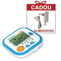Tensiometru electronic de brat Sanity Simple, 60 seturi de memorie, tehnologie FDS, produs validat clinic, Alb/Albastru