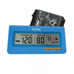 Tensiometru electronic de brat Sanity Serce Plus, 60 seturi de memorie, tehnologie FDS, Albastru