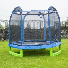 Trambulina ACTION® High Quality 215 cm cu plasa de protectie si scara