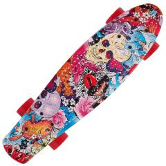 Penny Board Action® Xpload II ABEC-9, PU, Aluminium, Colourful Skull