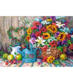 Puzzle Castorland 1500 Barbara Mock: Fresh from the garden
