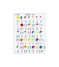 Puzzle Fractii, 35 Piese Larsen LRAR5