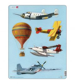 Puzzle Aviatie, 24 Piese Larsen LRX10
