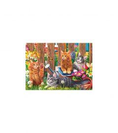 Puzzle Trefl - Little kittens in the garden 500 piese