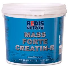 Supliment energizant si proteic, Mass Forte Creatin R, Redis, galeata 2.5 kg