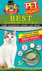 Nisip litiera pisici, Pet Expert, Clumping Natural, Bentonita, 5 L