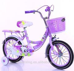 """Bicicleta mov desene zane 16"""" cu pedale pentru copii,roti ajutatoare ,aparatoare noroi,portbagaj si sonerie"""