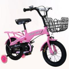 Bicicleta fetita cu roti 16 inch,pentru copii cu varsta intre 4-8 ani,portbagaj,cos jucarii,aparatori noroi