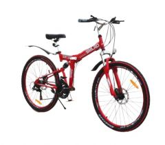 Bicicleta  Go Kart  Sport  culoare  rosie 26 inch  ,unisex, pliabila