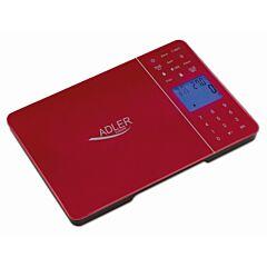 Cantar de Bucatarie Adler Multifunctional cu Afisaj LCD, Timmer cu Alarma, Calculator Calorii, Evaluare Nutrienti, Senzor de Temperatura