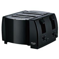 Prajitor de Paine Adler Toaster, Capacitate 4 Felii, Putere 1300W, Termostat Reglabil
