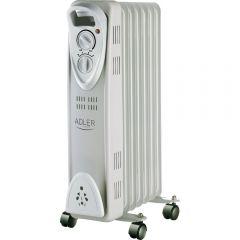 Radiator Calorifer Electric cu Ulei Adler, 7 Elementi, Putere 1500W, Termostat Reglabil si Protectie la Supraincalzire