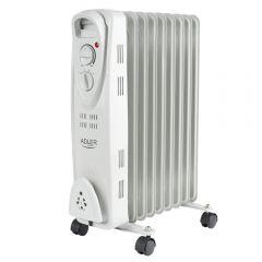 Radiator Calorifer Electric cu Ulei Adler, 9 Elementi, Putere 2000W, Termostat Reglabil si Protectie la Supraincalzire
