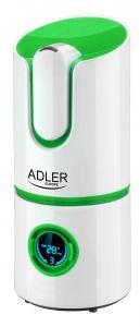 Umidificator adler cu umidificare reglabila, ionizare, purificare, rezervor 2,2L, putere 25W, capacitate 280ml/h, Culoare Verde
