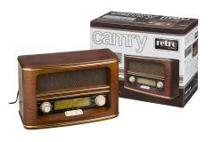Aparat radio FM in stil retro din lemn, dimensiuni 20x30x15cm
