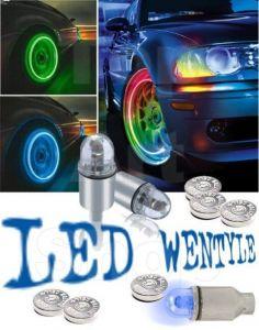 Set 2 Capacele Ventil Iluminate LED Multicolor cu Pornire si Schimbare Culori Automat
