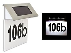 Placa solara iluminata cu numarul casei cu LED rezistenta la apa, aprindere automata