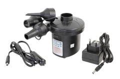 Pompa electrica portabila, Alimentare 12V/230V, 50W cu 3 varfuri de umflare