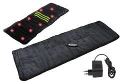 Saltea de masaj cu vibratii si incalzire 2-in-1 cu telecomanda, 2 trepte de masaj in 4 zone diferite ale corpului
