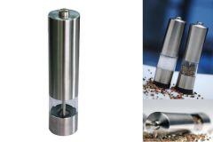 Rasnita electrica pe baterii pentru sare, piper si alte mirodenii cu LED cand mecanismul este in functiune
