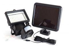 Lampa solara de perete cu halogen si senzor de miscare si de seara lumina cu LED